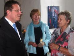 Helga Hopfe und Oberbürgermeister Henry Schramm